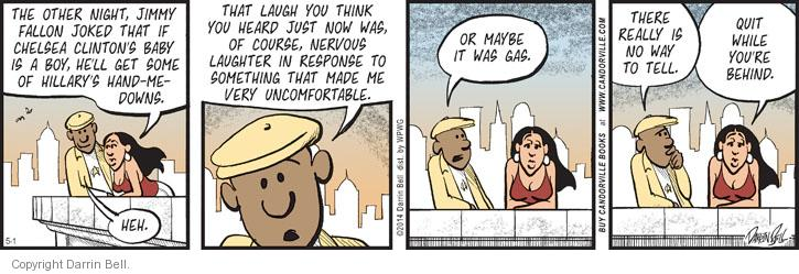 Cartoonist Darrin Bell  Candorville 2014-05-01 quit