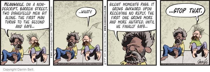 Comic Strip Darrin Bell  Candorville 2014-05-05 man