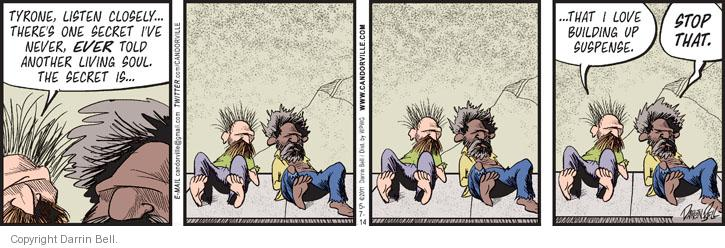 Comic Strip Darrin Bell  Candorville 2014-05-07 expectation