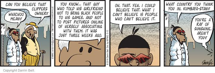 Comic Strip Darrin Bell  Candorville 2014-05-12 ray