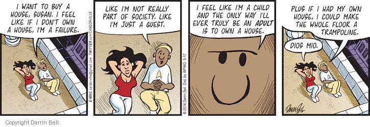 Comic Strip Darrin Bell  Candorville 2014-05-17 guest