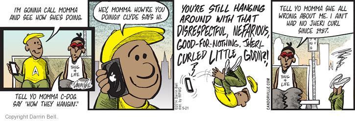 Cartoonist Darrin Bell  Candorville 2014-05-21 momma