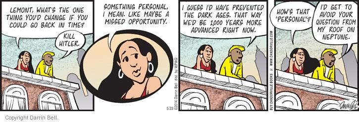 Comic Strip Darrin Bell  Candorville 2014-05-23 opportunity