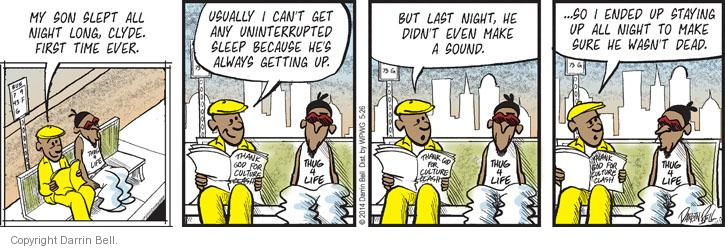 Comic Strip Darrin Bell  Candorville 2014-05-26 usually
