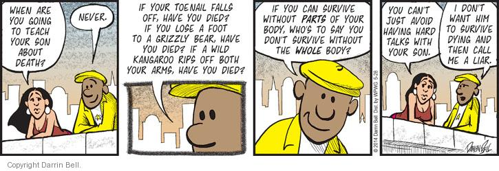 Comic Strip Darrin Bell  Candorville 2014-05-28 survive