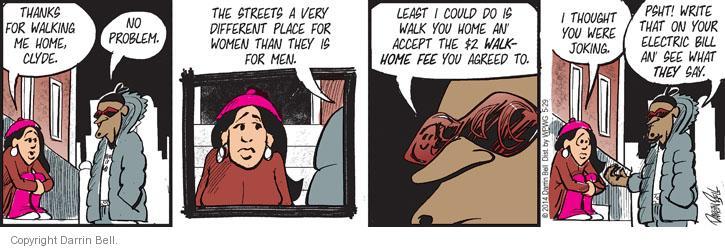 Comic Strip Darrin Bell  Candorville 2014-05-29 no problem