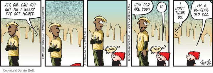 Comic Strip Darrin Bell  Candorville 2014-05-31 get old