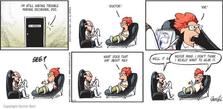 Cartoonist Darrin Bell  Candorville 2014-06-15 trouble