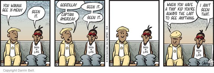Comic Strip Darrin Bell  Candorville 2014-06-04 captain
