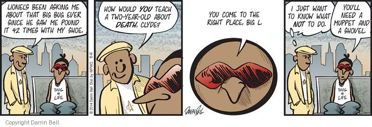 Comic Strip Darrin Bell  Candorville 2014-06-06 right place