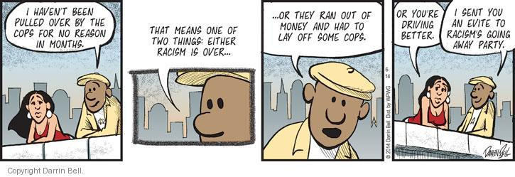 Comic Strip Darrin Bell  Candorville 2014-06-14 racial discrimination