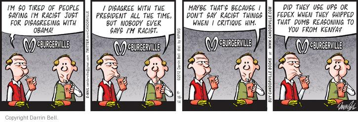 Cartoonist Darrin Bell  Candorville 2014-06-16 people