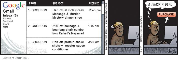 Comic Strip Darrin Bell  Candorville 2014-06-18 dinner