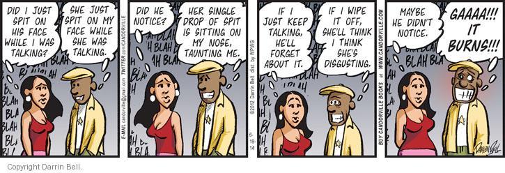 Comic Strip Darrin Bell  Candorville 2014-06-19 spit