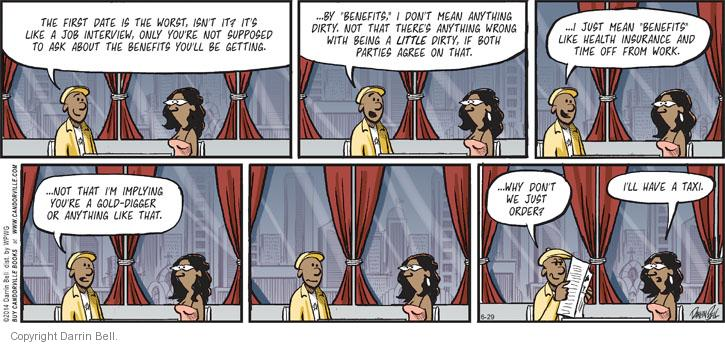 Comic Strip Darrin Bell  Candorville 2014-06-29 wrong time