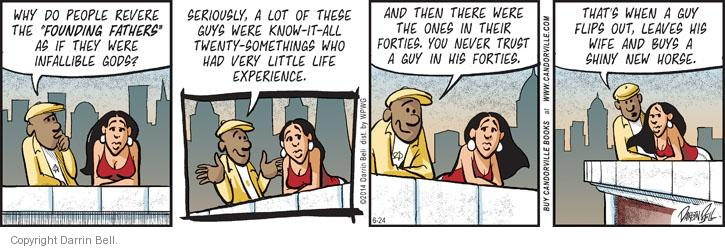 Comic Strip Darrin Bell  Candorville 2014-06-24 founding