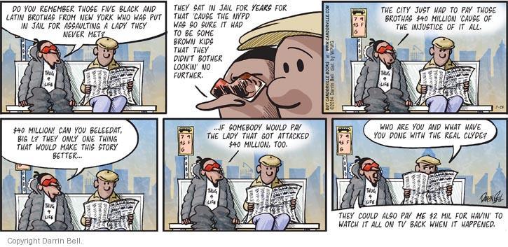 Comic Strip Darrin Bell  Candorville 2014-07-13 assault