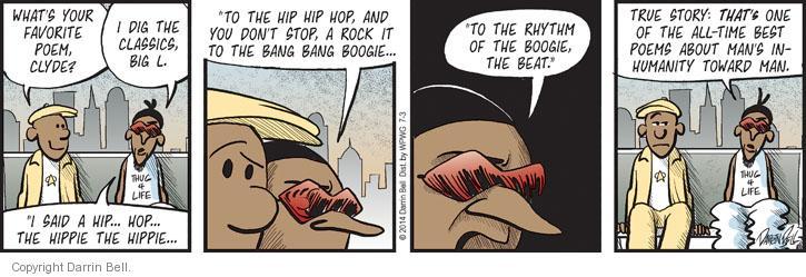 Comic Strip Darrin Bell  Candorville 2014-07-03 rapper