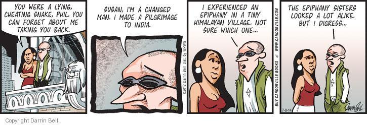 Cartoonist Darrin Bell  Candorville 2014-07-08 Himalayas