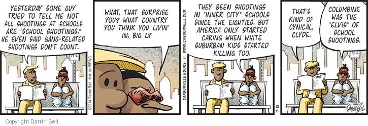 Comic Strip Darrin Bell  Candorville 2014-07-15 gun culture
