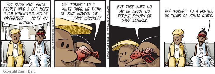 Comic Strip Darrin Bell  Candorville 2014-07-17 American History
