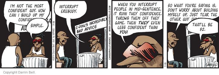 Comic Strip Darrin Bell  Candorville 2014-07-19 confidence