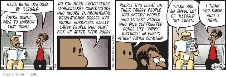 Comic Strip Darrin Bell  Candorville 2014-07-24 illegal immigrant