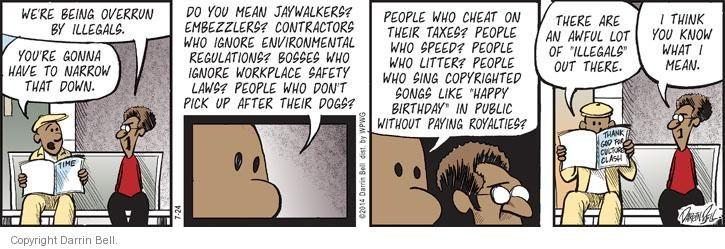 Comic Strip Darrin Bell  Candorville 2014-07-24 embezzlement