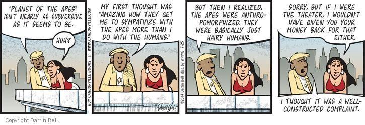 Comic Strip Darrin Bell  Candorville 2014-07-25 complain