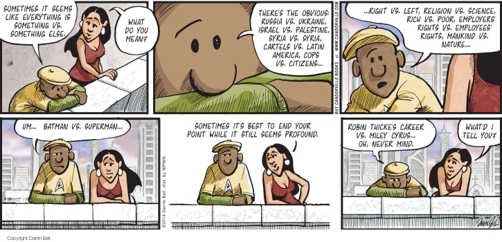 Comic Strip Darrin Bell  Candorville 2014-08-10 cartel