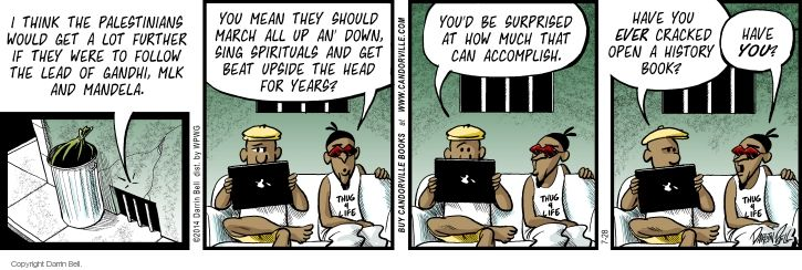 Comic Strip Darrin Bell  Candorville 2014-07-28 peace