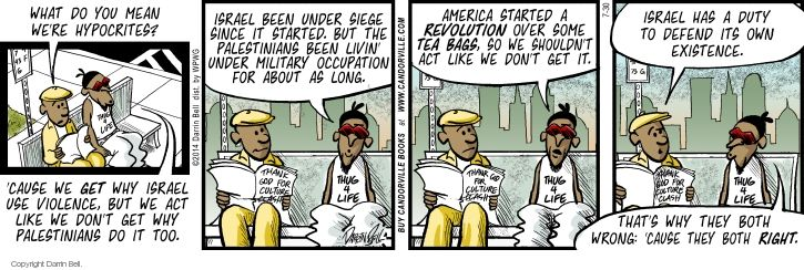 Comic Strip Darrin Bell  Candorville 2014-07-30 tea