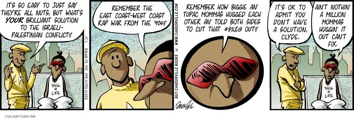 Comic Strip Darrin Bell  Candorville 2014-07-31 conflict
