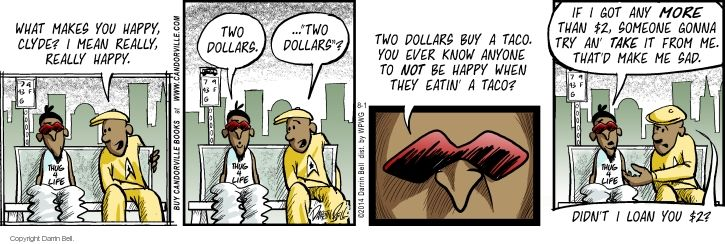 Comic Strip Darrin Bell  Candorville 2014-08-01 Taco Bell