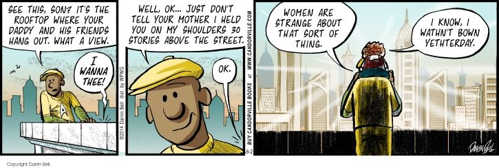 Comic Strip Darrin Bell  Candorville 2014-08-02 reaction