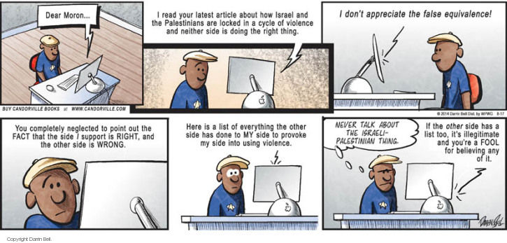 Comic Strip Darrin Bell  Candorville 2014-08-17 clash