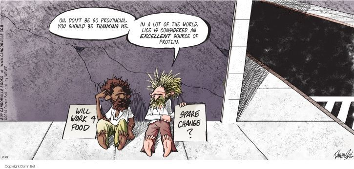 Comic Strip Darrin Bell  Candorville 2014-08-24 food source