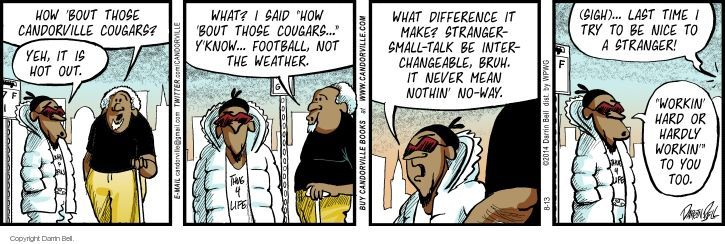 Comic Strip Darrin Bell  Candorville 2014-08-13 hot