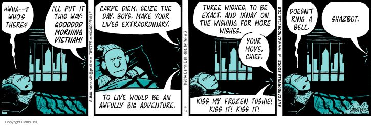 Comic Strip Darrin Bell  Candorville 2014-08-18 adventure movie