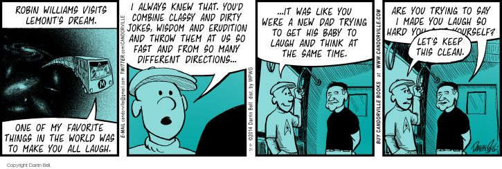 Comic Strip Darrin Bell  Candorville 2014-08-21 ghost