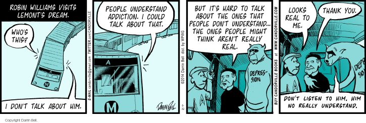 Comic Strip Darrin Bell  Candorville 2014-08-22 ghost