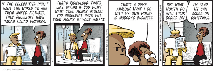 Comic Strip Darrin Bell  Candorville 2014-09-10 nudity