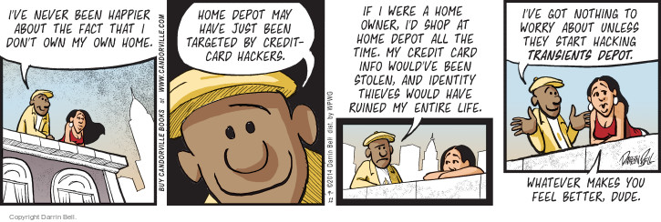 Comic Strip Darrin Bell  Candorville 2014-09-11 credit card