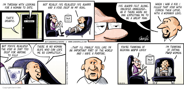 Comic Strip Darrin Bell  Candorville 2014-09-28 men's health