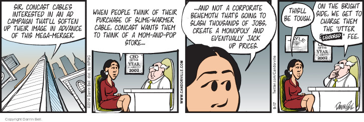 Comic Strip Darrin Bell  Candorville 2014-09-17 cable