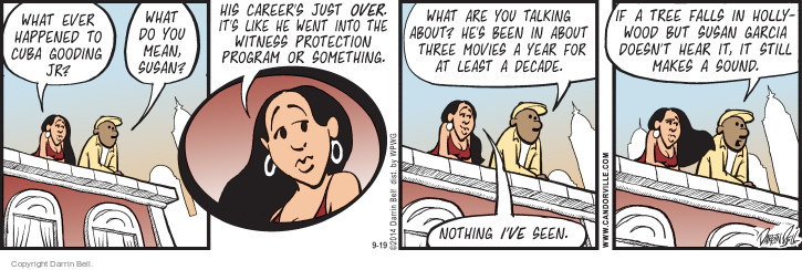 Comic Strip Darrin Bell  Candorville 2014-09-19 Hollywood