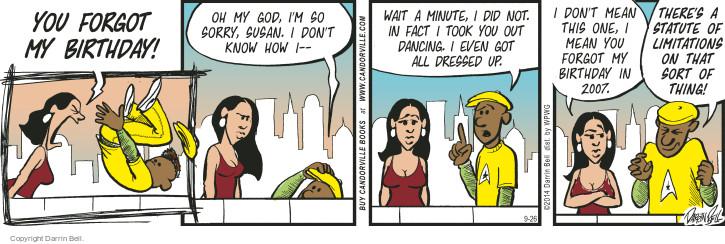 Comic Strip Darrin Bell  Candorville 2014-09-26 dance