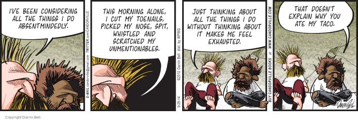 Comic Strip Darrin Bell  Candorville 2014-09-29 spit