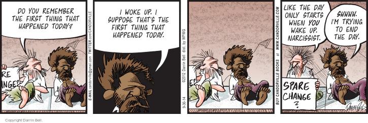 Comic Strip Darrin Bell  Candorville 2014-09-30 woke