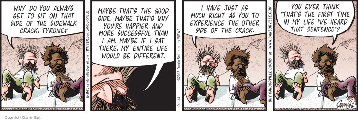 Comic Strip Darrin Bell  Candorville 2014-10-01 first sentence